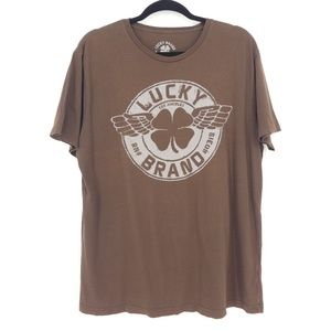 Lucky Brand Brown Graphic Short Sleeve T-Shirt